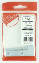 TIMco 75x75x16 Corner Plate 75mm Pack Bag Of 4