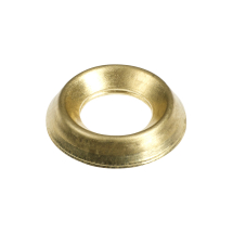 TIMco 8mm Surface Screw Cups - Brass Bag Of 55