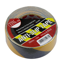 TIMco 10m x 50mm Anti Slip Tape (Black/Yellow)