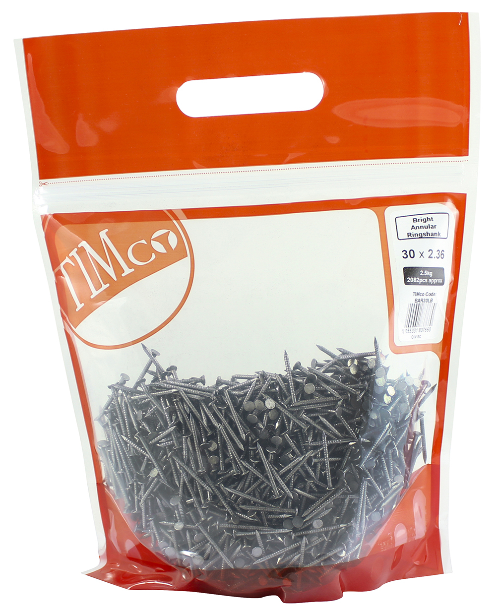 TIMco 30 x 2.36 Annular Ringshank Nail -Bright 2.5 kg Bag