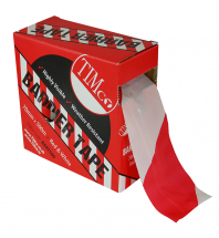 TIMco 500m x 70mm PE Barrier Tape Red/White