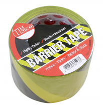 TIMco 100m x 70mm PE Barrier Tape Yellow/Black