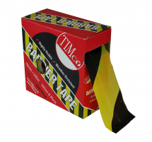 TIMco 500m x 70mm PE Barrier Tape Yellow/Black
