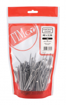 TIMco 40 x 2.36 Round Lost Head Nail - Bright 1kg Bag