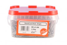 TIMco 40 x 2.36 Round Lost Head Nail - Bright 2.5kg Tub