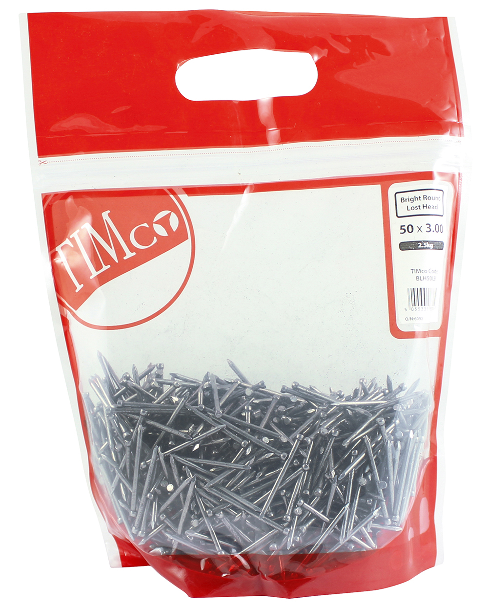 TIMco 50 x 3.00 Round Lost Head Nail - Bright 2.5 kg Bag