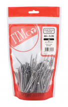 TIMco 65 x 3.35 Round Lost Head Nail - Bright 1kg Bag