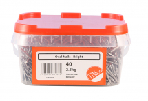 TIMco 40mm Oval Nails - Bright 2.5kg Tub