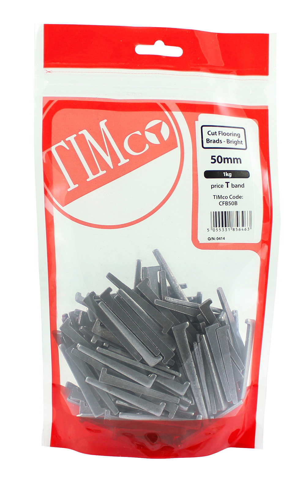 TIMco 50mm Cut Flooring Brad - Bright 1kg Bag