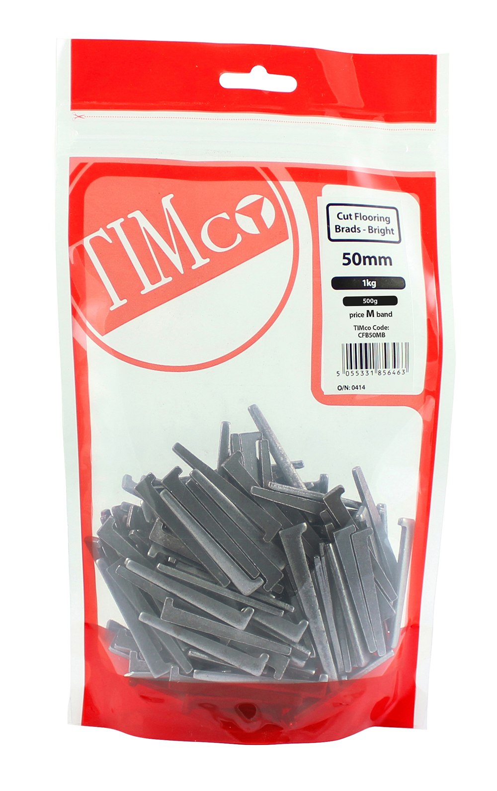 TIMco 50mm Cut Flooring Brad - Bright 500g Bag