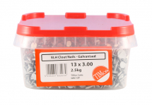 TIMco 13 x 3.00 Clout Nails ELH - Galvanised 2.5kg Tub