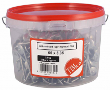 TIMco 65 x 3.35 Spring Head - Galvanised 2.5kg Tub