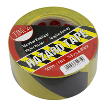 TIMco 33m x 50mm PVC Hazard Tape