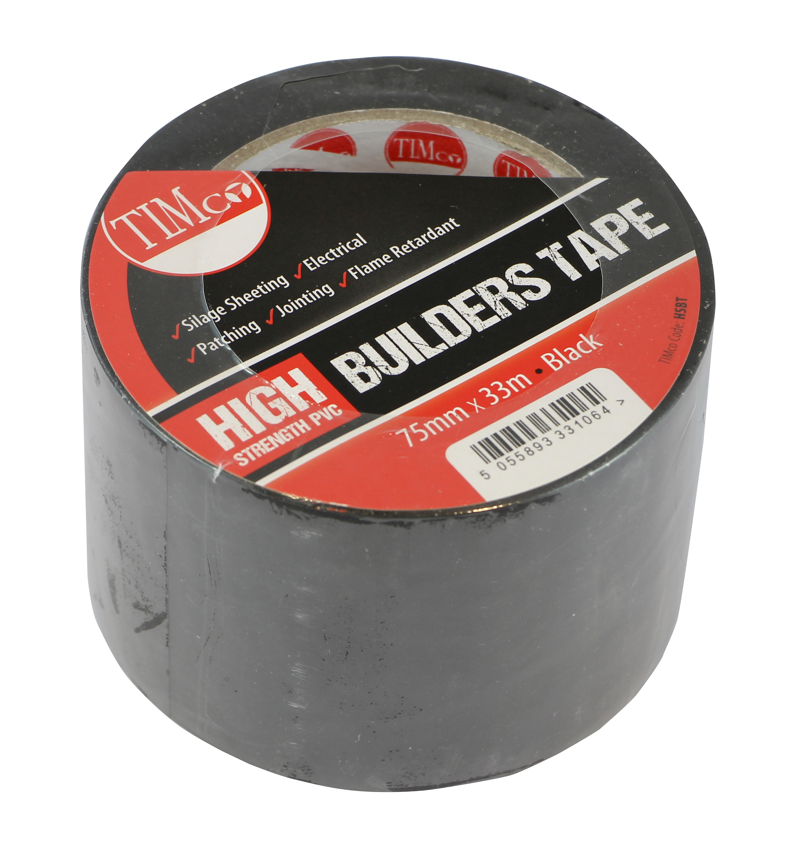 TIMco 33m x 75mm High Strength PVC Builders Tape