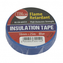 TIMco 25m x 18mm PVC Insulation Tape - Blue Pack Of 10