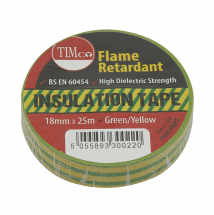 TIMco 25m x 18mm PVC Insulation Tape - Stripe Pack Of 10