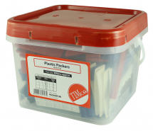TIMco 1mm to 6mm Assorted Plastic Packers Tub Of 400