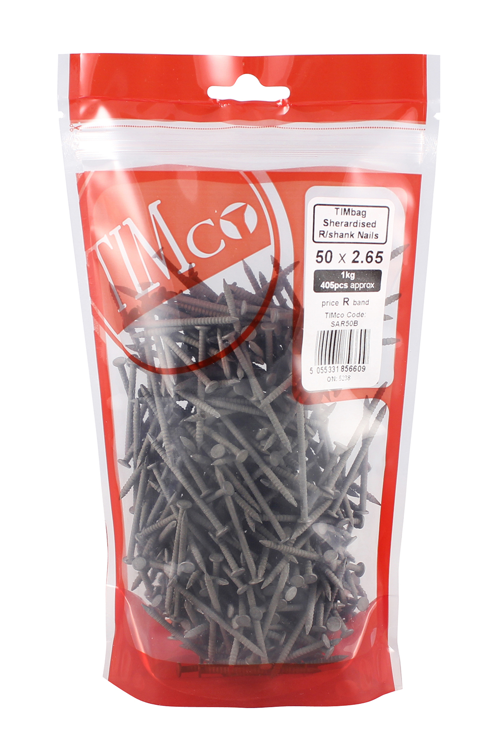 TIMco 50 x 2.65 Annular Ringshank - Sheraradised 1kg Bag