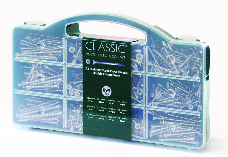 TIMco Classic A2 SS Screw Mixed Tray