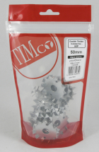 TIMco M12 Double Timber Connector Galvanised Bag Of 15