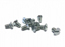 4BA x 1/4inch Slotted Countersunk Machine Screw Zinc Plated