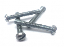 4BA x 1inch Slotted Round Head Machine Screw Zinc Plated