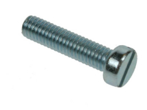 6BA x 1 Slotted Cheese Head Machine Screw Zinc Plated