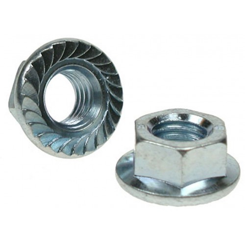 M14 Serrated Flange Nuts Zinc Plated Plated DIN 6930