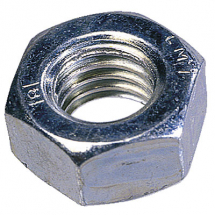 M10 Hex Full Nut Left Hand Zinc Plated